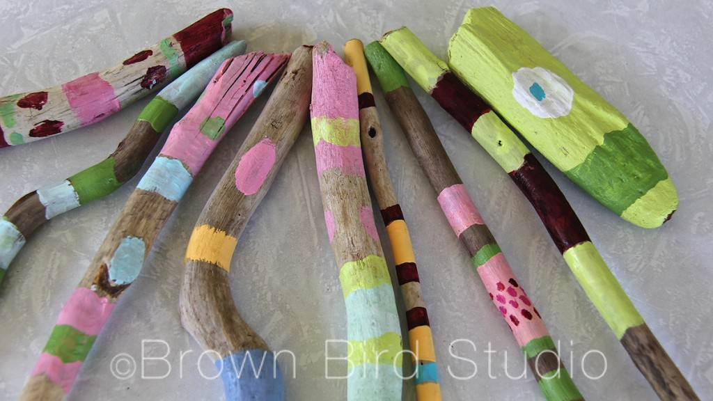 painted stick art
