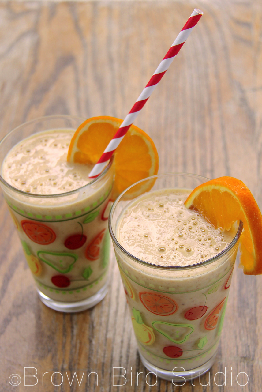 orange almond smoothie