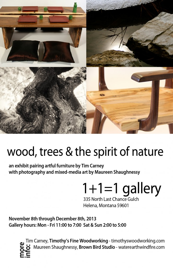 invitation to gallery opening for 1+1=1